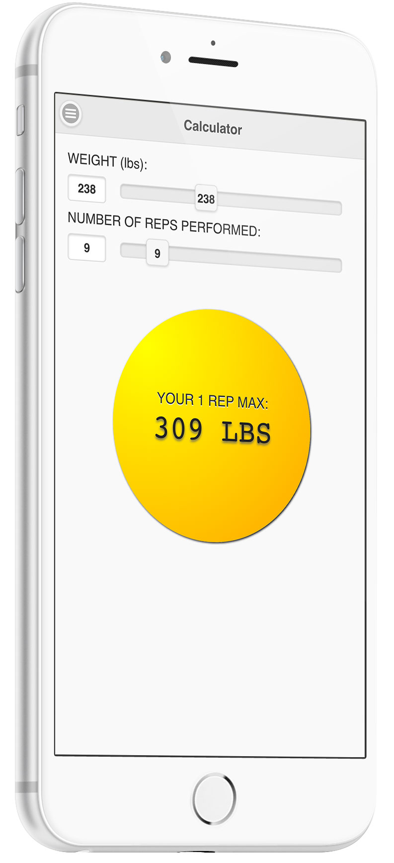 How to calculate your one rep max 1rm one rep max calculator app nvjuhfo Choice Image