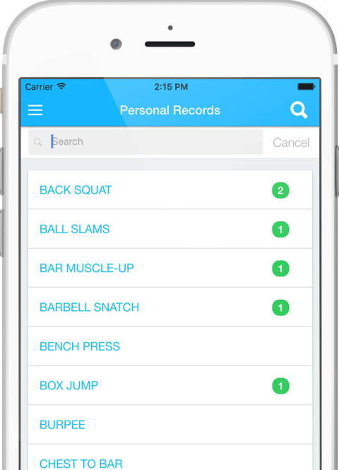 Crossfit WOD App PR Tracking